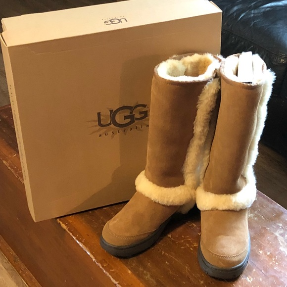06abf234dd6 Size 6 women's tall Ugg boots. NWT in chestnut. Boutique